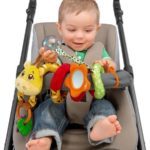 BABY SENSES MRS GIRAFFE STROLLER ROPE TOY