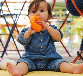 How does baby's physical development contribute to learning?